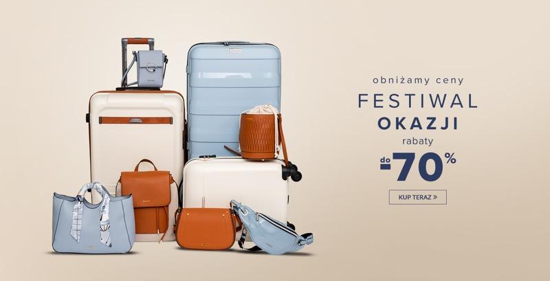 dae2c71c512f9 Puccini: Festiwal Okazji do 70% rabatu na walizki, torebki, torby,  kosmetyczki, portfele i plecaki