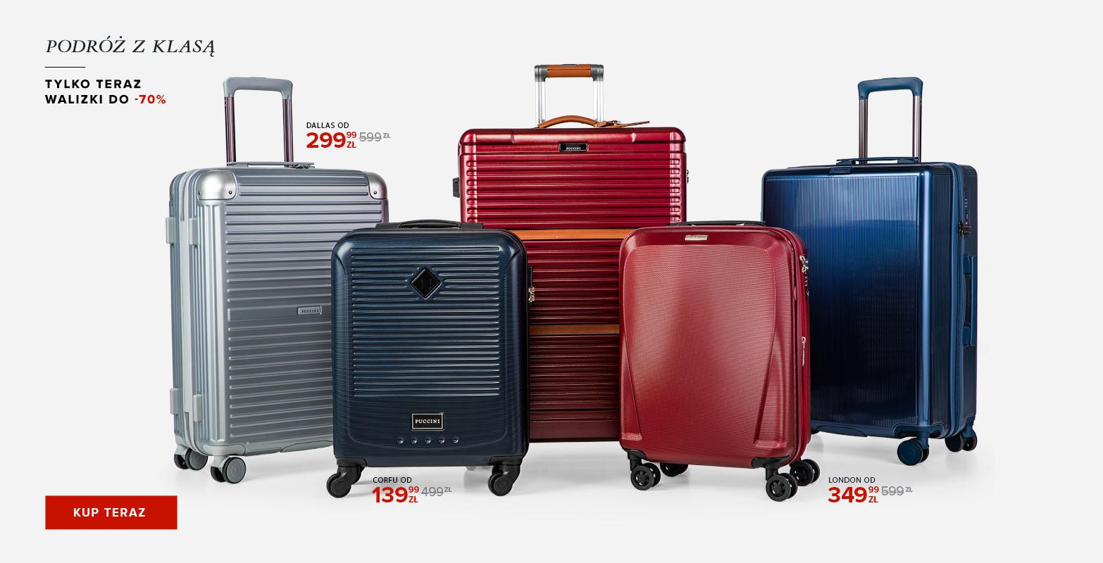 Puccini: do 70% zniżki na walizki podróżne                         title=