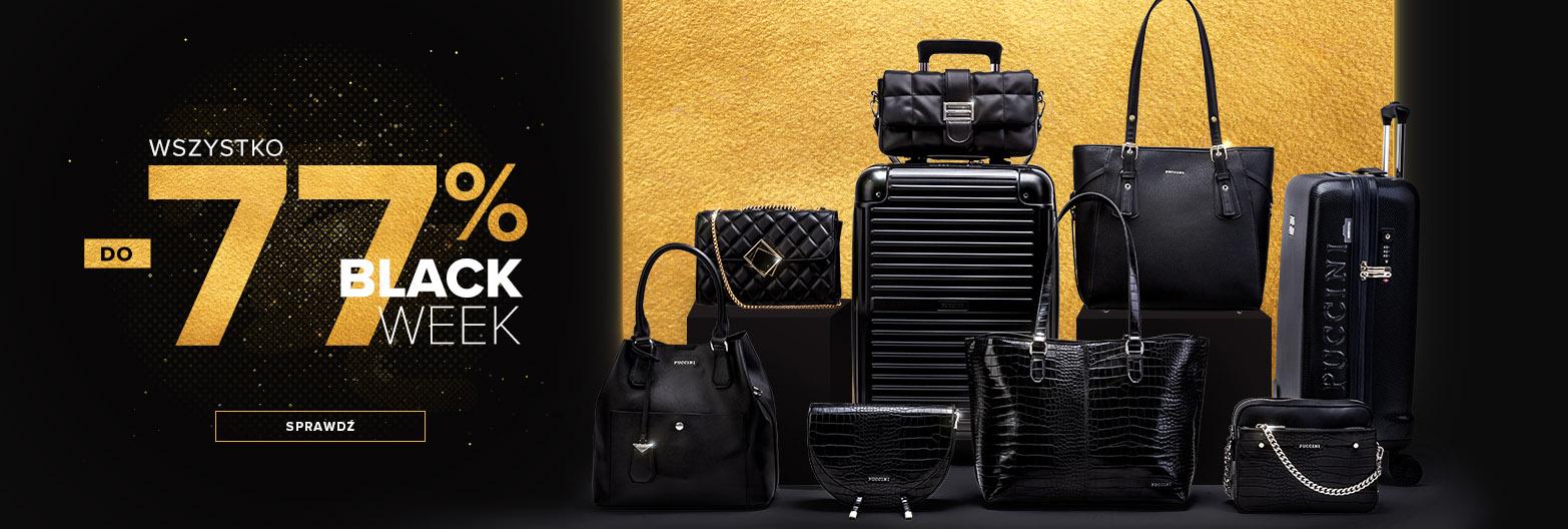 Puccini: Black Week do 77% rabatu na walizki, torby, torebki i galanterię skórzaną