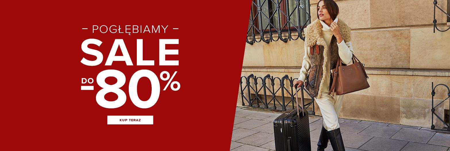 Puccini: wyprzedaż do 80% zniżki na walizki, torby i plecaki, torebki, portfele, paski