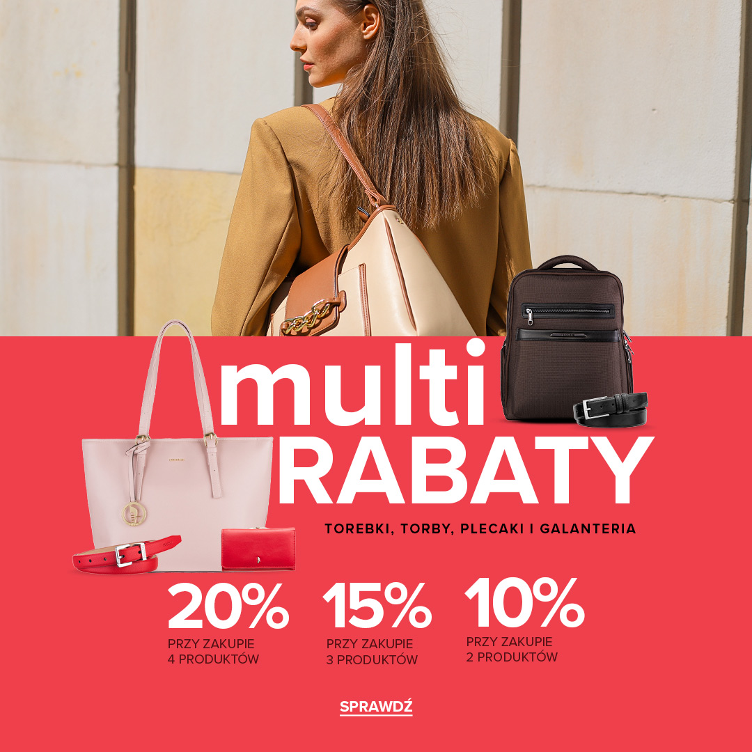 Puccini: do 20% rabatu na torebki, torby, plecaki oraz galanterię skórzaną - multi rabaty