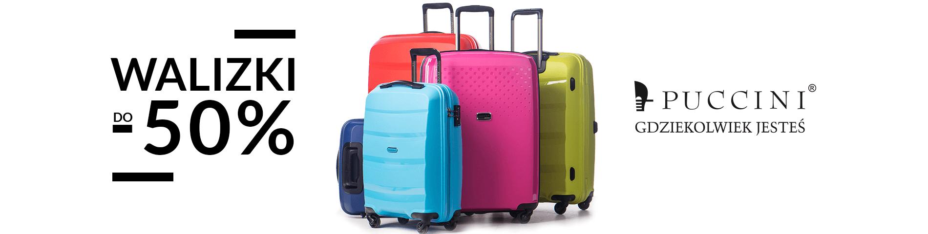 4e74b0e0da10b Puccini: do 50% zniżki na walizki