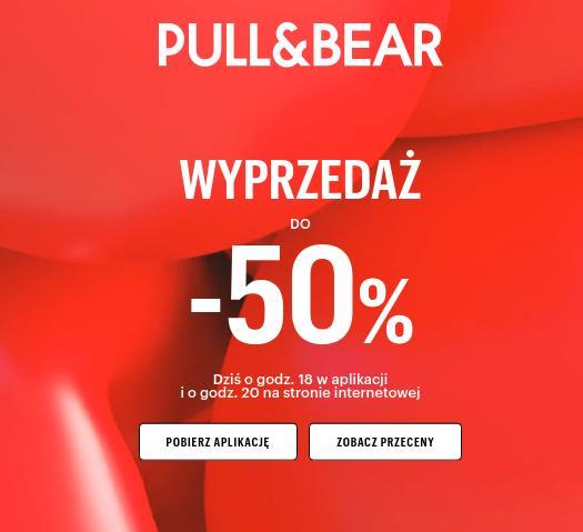 Pull&Bear: wyprzedaż do 50% zniżki na odzież, obuwie, torebki oraz akcesoria dla niej i dla niego