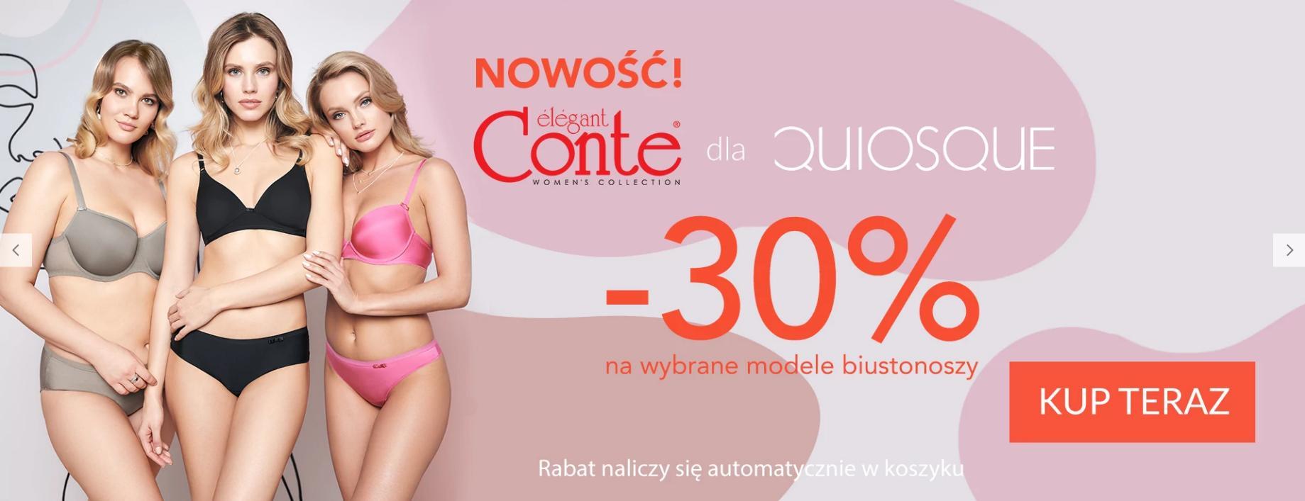 Quiosque Quiosque: 30% rabatu na wybrane modele biustonoszy marki elegant Conte