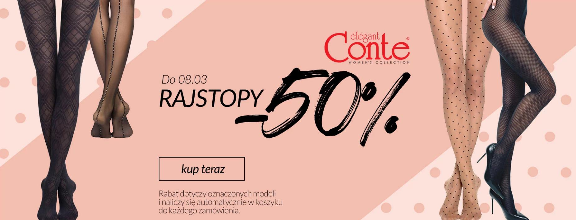 Quiosque Quiosque: 50% zniżki na rajstopy marki Conte Elegant - promocja na Dzień Kobiet