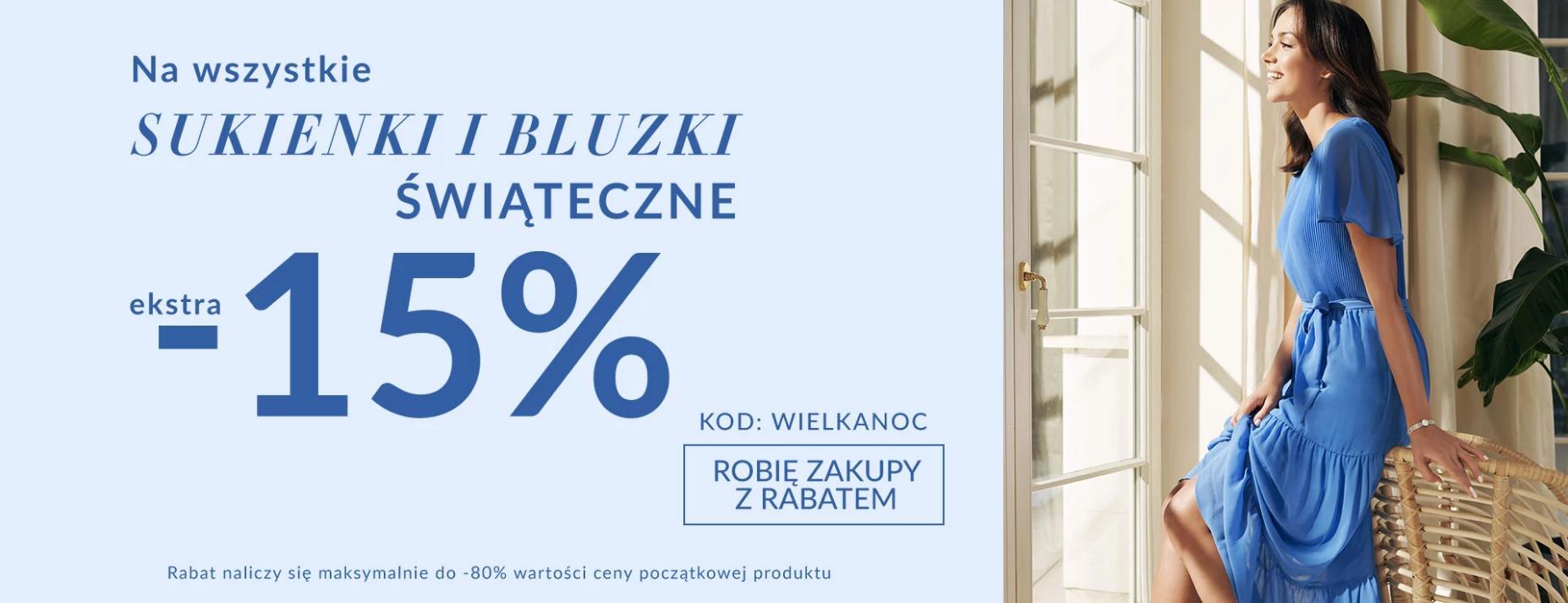 Quiosque Quiosque: dodatkowe 15% zniżki na wszystkie sukienki i bluzki