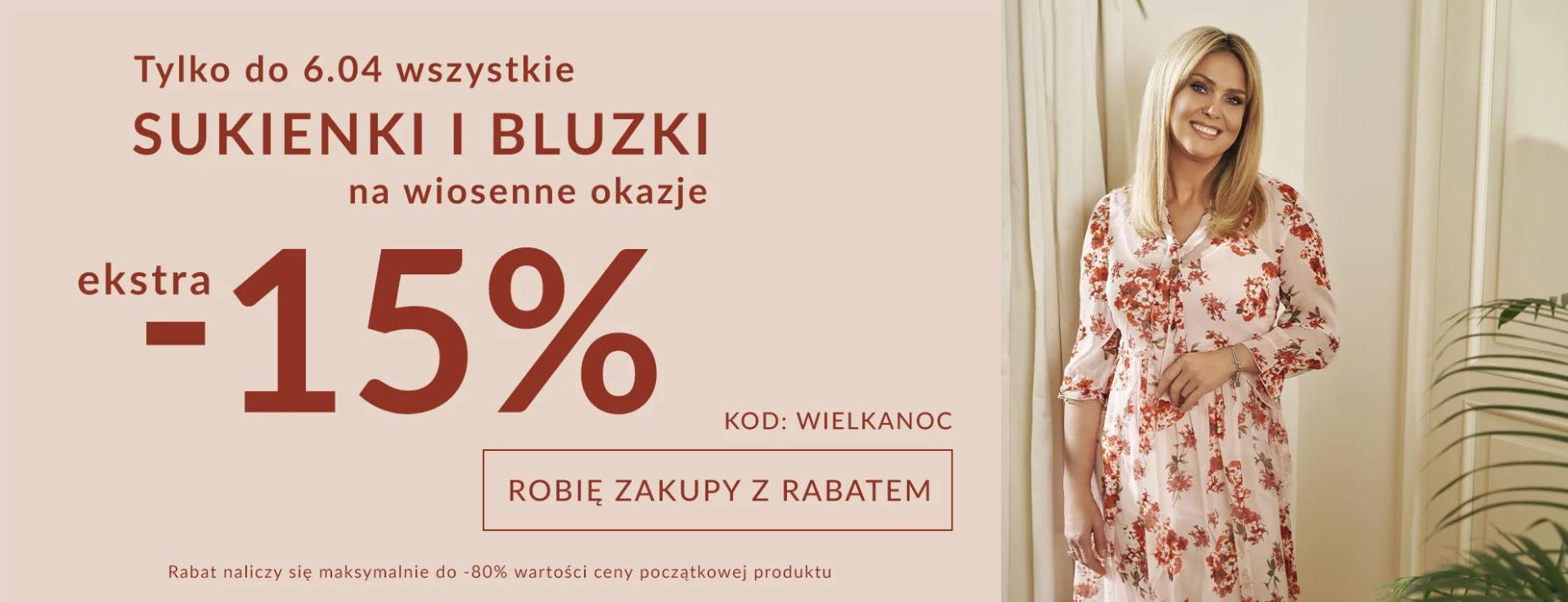 Quiosque: dodatkowe 15% rabatu na sukienki i bluzki