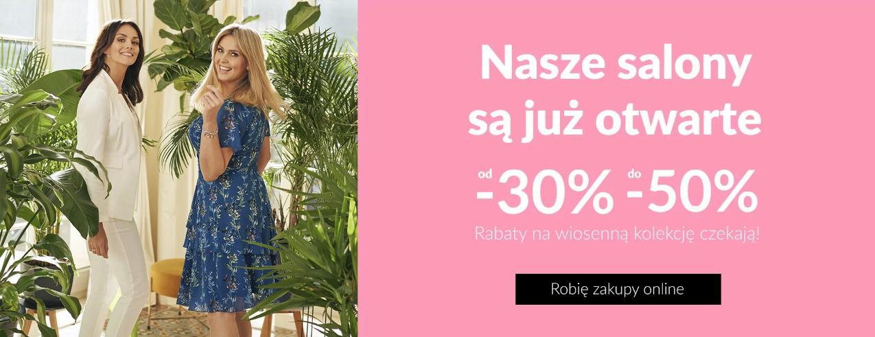 Quiosque Quiosque: od 30% do 50% rabatu na odzież damską z kolekcji wiosennej