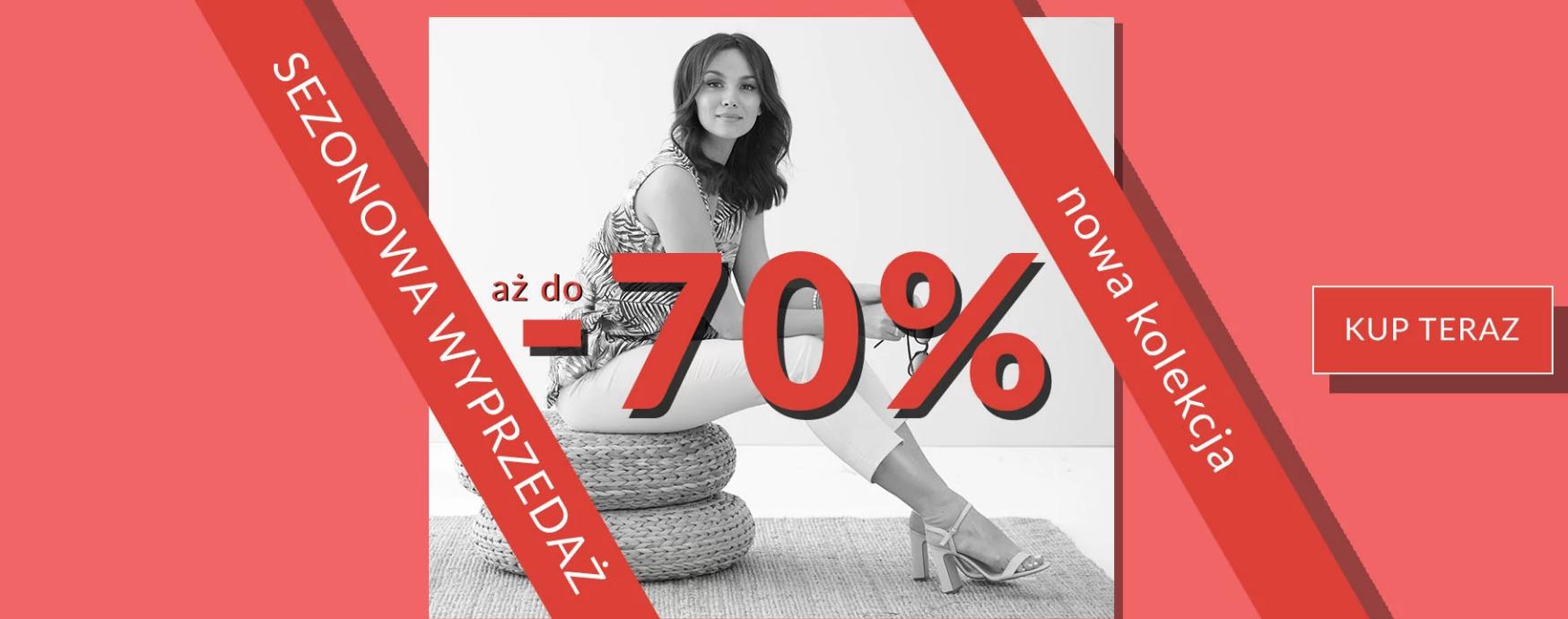 Quiosque: sezonowa wyprzedaż do 70% rabatu na nową kolekcję odzieży damskiej