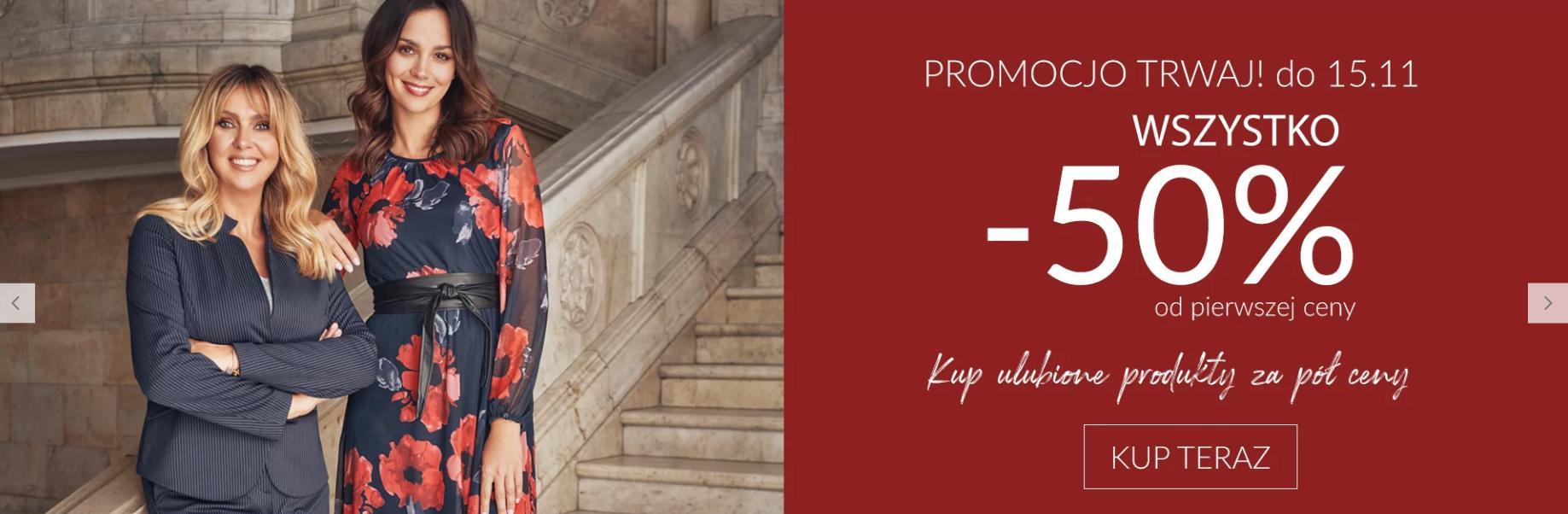 Quiosque: 50% rabatu na odzież damską