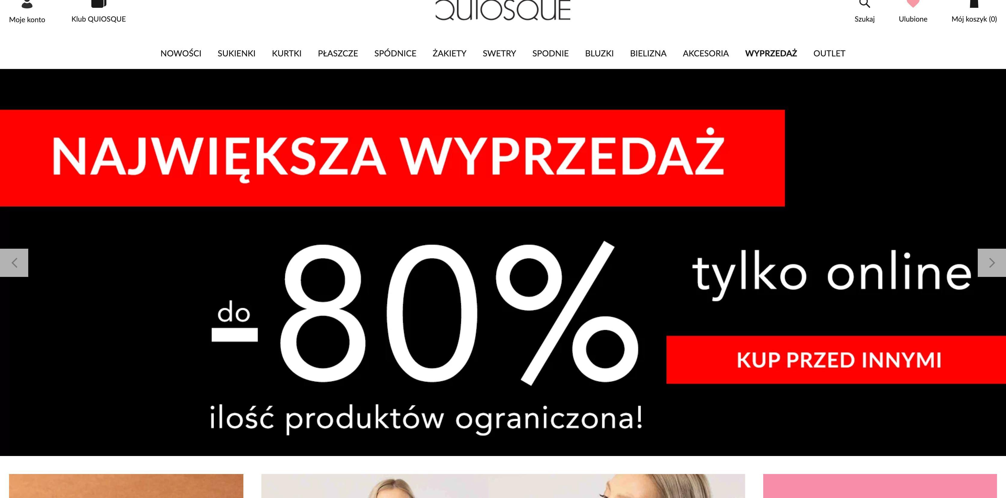 Quiosque: największa wyprzedaż do 80% rabatu na odzież damską