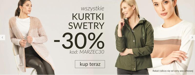 Quiosque Quiosque: 30% zniżki na wszystkie kurtki i swetry damskie
