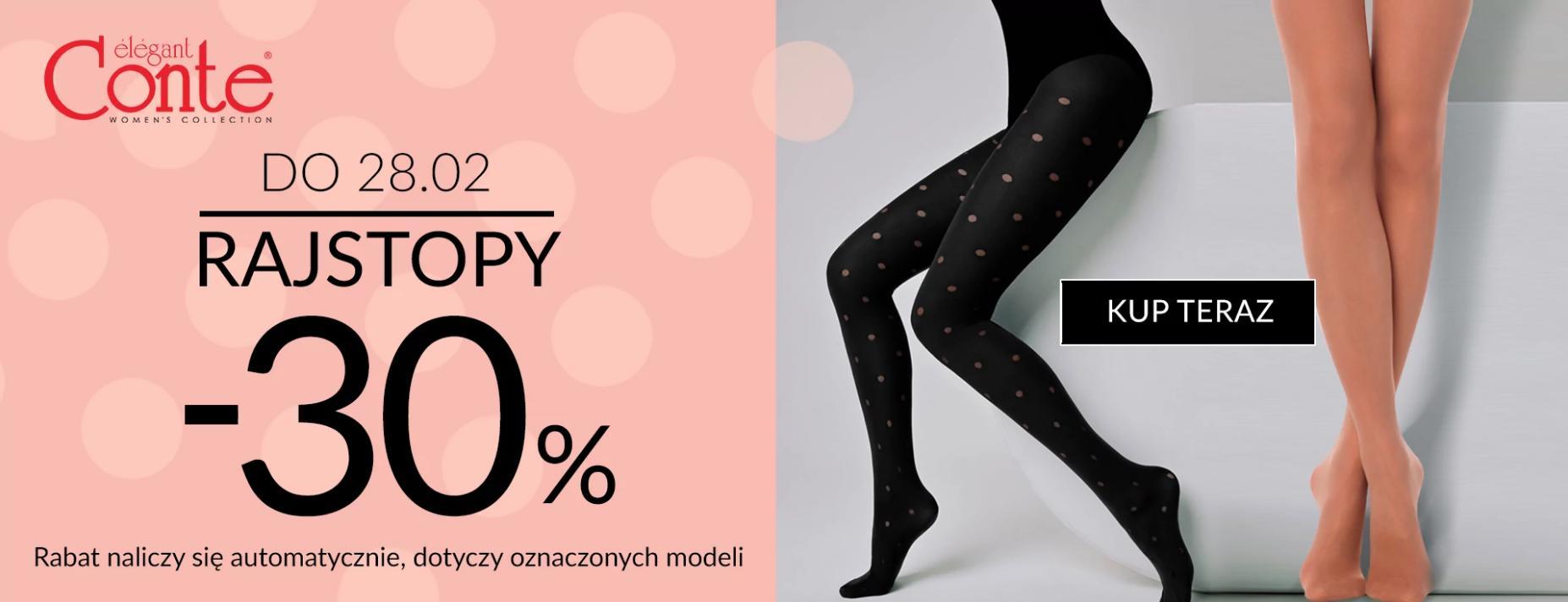 Quiosque: 30% zniżki na rajstopy marki Conte Elegant