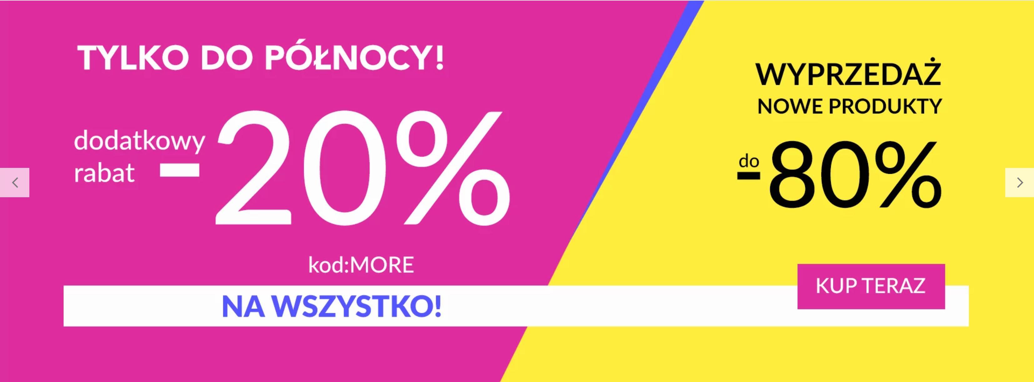 Quiosque: dodatkowe 20% zniżki do 80% wyprzedaży na odzież damską