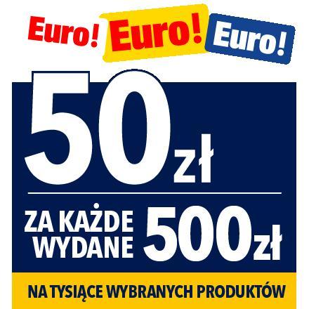 RTV EURO AGD: 50 zł rabatu za każde wydane 500 zł na sprzęt elektroniczny, telewizory, laptopy, agd i wiele innych