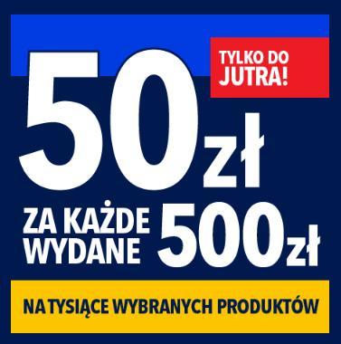 RTV EURO AGD: 50 zł zniżki na sprzęt AGD i RTV za każde wydane 500 zł