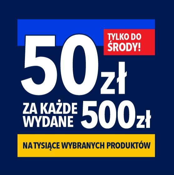 RTV EURO AGD: 50 zł zniżki za każde wydane 500 zł