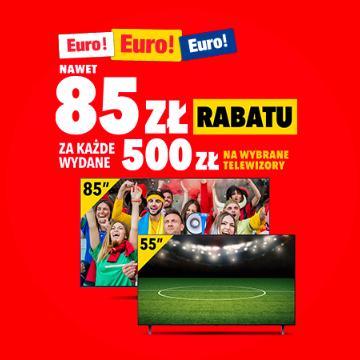 RTV EURO AGD: nawet 85 zł zniżki na telewizory za każde wydane 500 zł