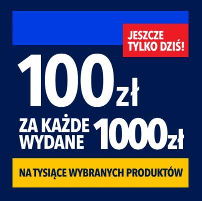 RTV EURO AGD: 100 zł zniżki na tysiące wybranych produktów za każde wydane 1000 zł