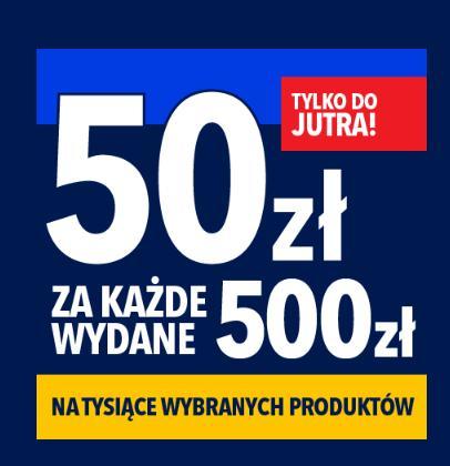 RTV EURO AGD: 50 zł zniżki za każde wydane 500 zł na tysiące wybranych produktów