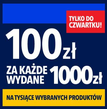 RTV EURO AGD: 100 zł rabatu na sprzęt RTV oraz AGD za każde wydane 1 000 zł
