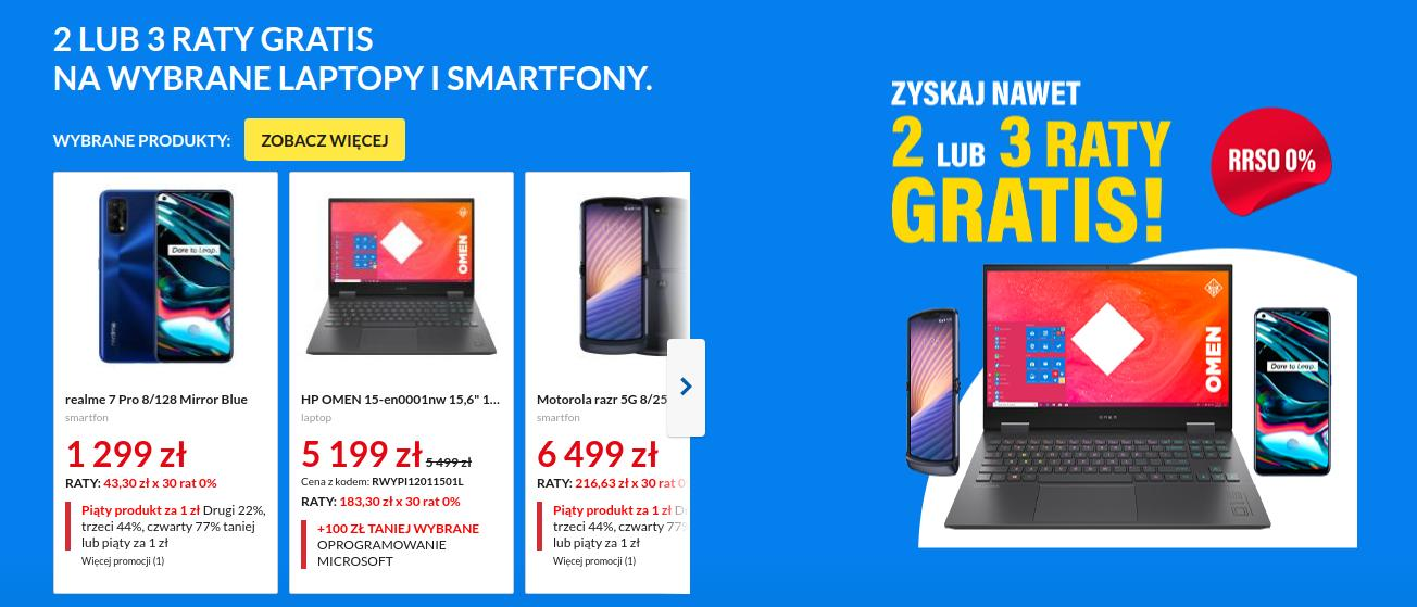 RTV EURO AGD: kup laptop lub smartfon, a otrzymasz 2 lub 3 Gratisy