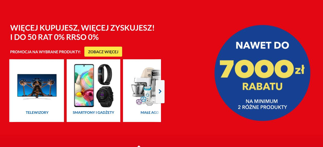 RTV EURO AGD: nawet 7000 zniżki w zależności od wartości koszyka - telewizory, smartfony, agd, audio, video i inne