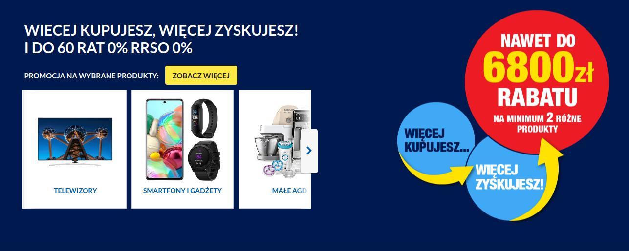 RTV EURO AGD: do 6 800 zł rabatu na sprzęt AGD i RTV przy zakupie min. 2 różne produkty