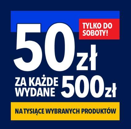 RTV EURO AGD: 50 zł rabatu na sprzęt AGD i RTV za każde wydane 500 zł