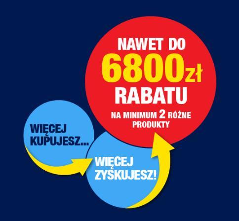 RTV EURO AGD: do 6 800 zł rabatu na sprzęt rtv, agd, elektronikę, komputery, laptopy i wiele innych