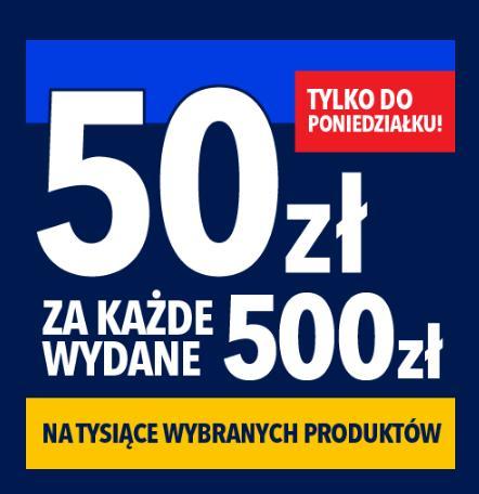 RTV EURO AGD: 50 zł zniżki za każde wydane 500 zł - tysiące wybranych produktów RTV i AGD