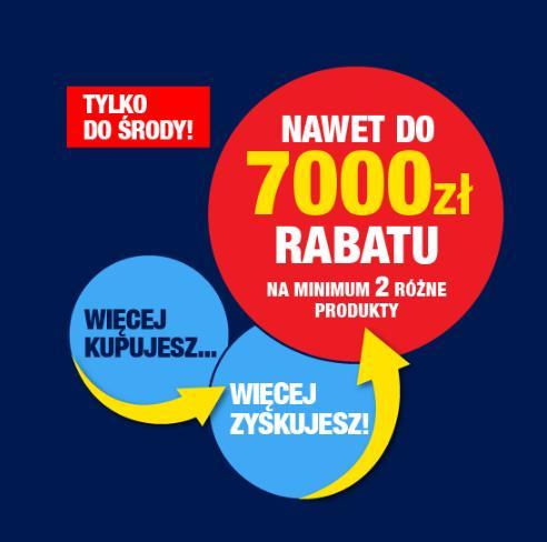 RTV EURO AGD: do 7 000 zł rabatu na min 2 produkty: telewizorów, smartfonów, małego AGD, audio, video, foto i kamer