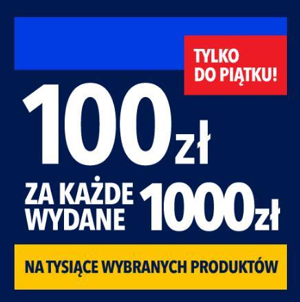 RTV EURO AGD: 100 zł zniżki na tysiące wybranych produktów za każde wydane 1 000 zł