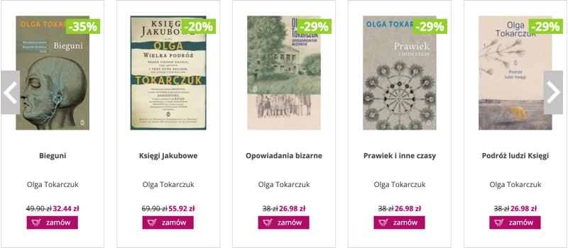 Ravelo: do 35% zniżki na książki Olgi Tokarczuk