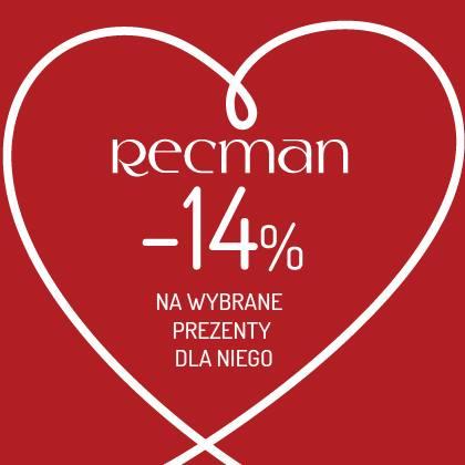 Recman: 14% zniżki na wybrane prezenty dla niego