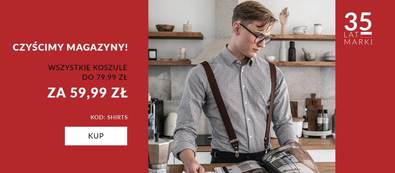 Recman: wszystkie koszule w cenach do 79,99 zł kupicie za 59,99 zł