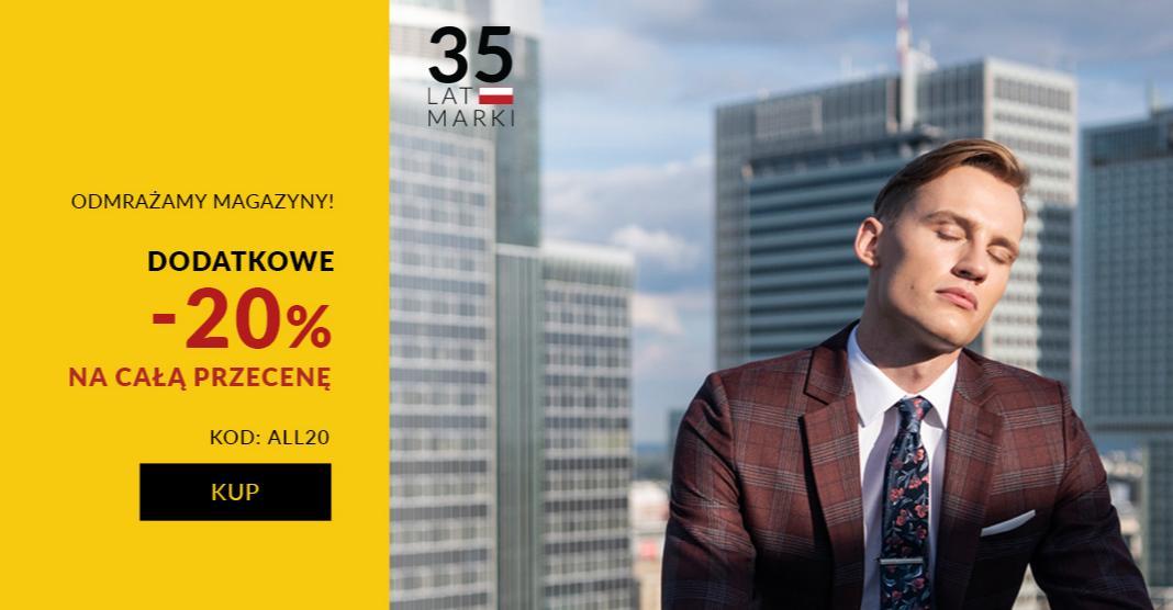 Recman Recman: dodatkowe 20% zniżki na cały asortyment odzieży męskiej