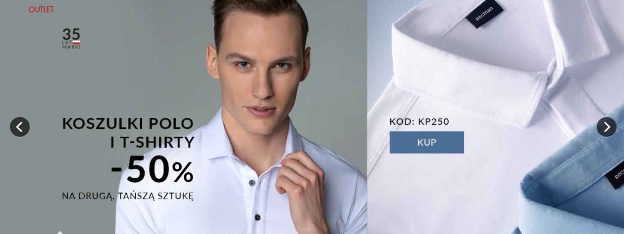 Recman Recman: 50% zniżki na drugą sztukę - koszulki polo i t-shirty