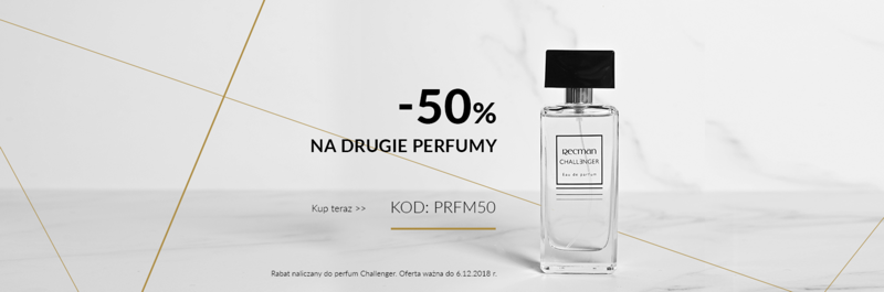 Recman: 50% zniżki na drugie perfumy