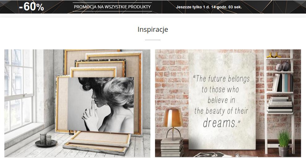 Redro: wyprzedaż 60% rabatu na fototapety, obrazy, naklejki, plakaty na ścianę