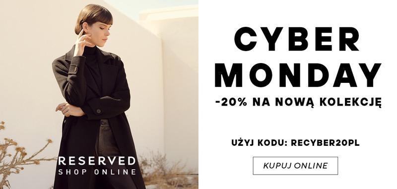 Reserved: Cyber Monday 20% zniżki na nową kolekcję                         title=