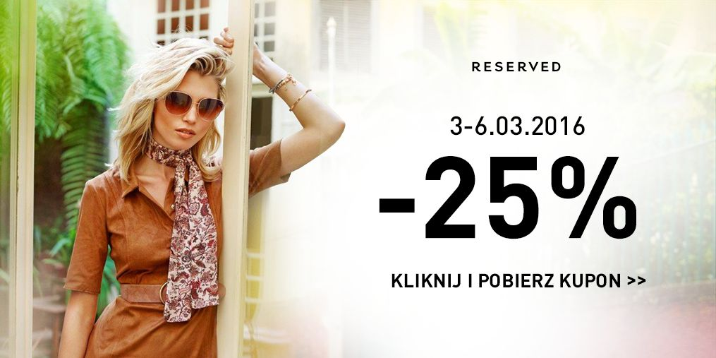 Reserved: 25% kupon rabatowy