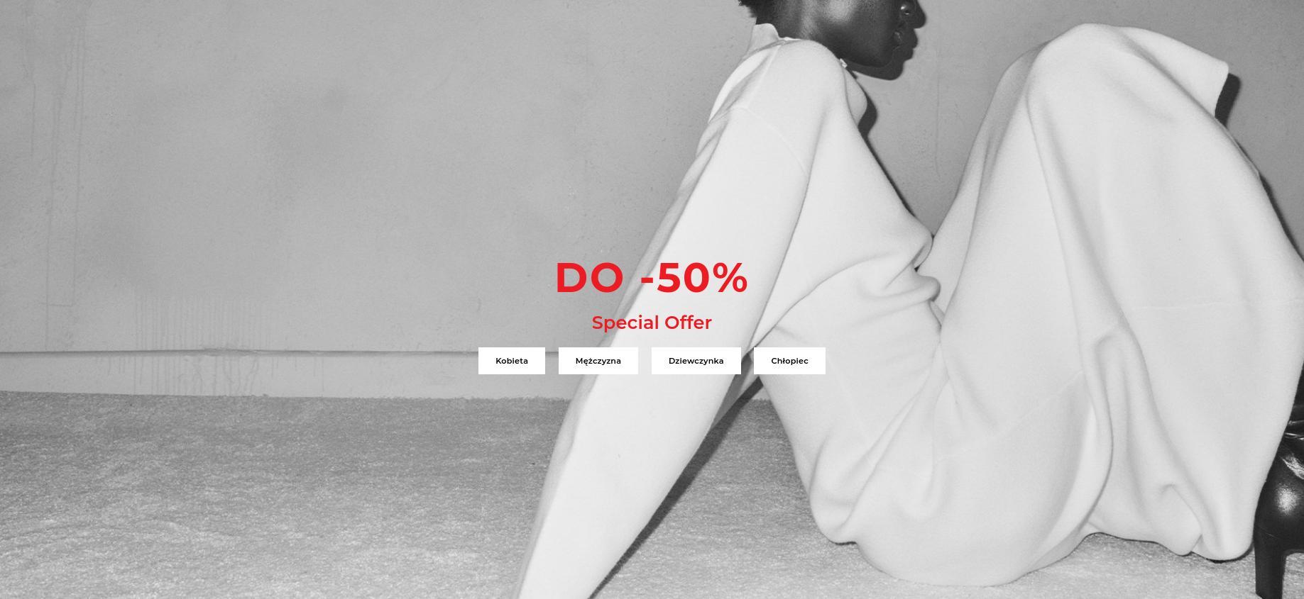 Reserved: do 50% zniżki na odzież damską, męską i dziecięcą