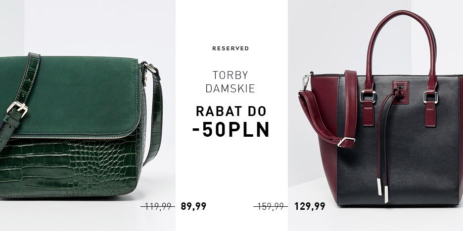 Reserved: rabat na torebki do 50 zł