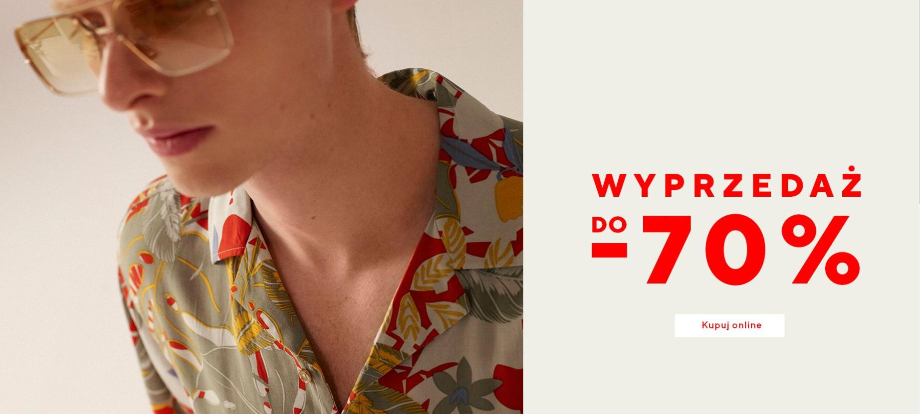 Reserved Reserved: wyprzedaż do 70% rabatu na odzież męską
