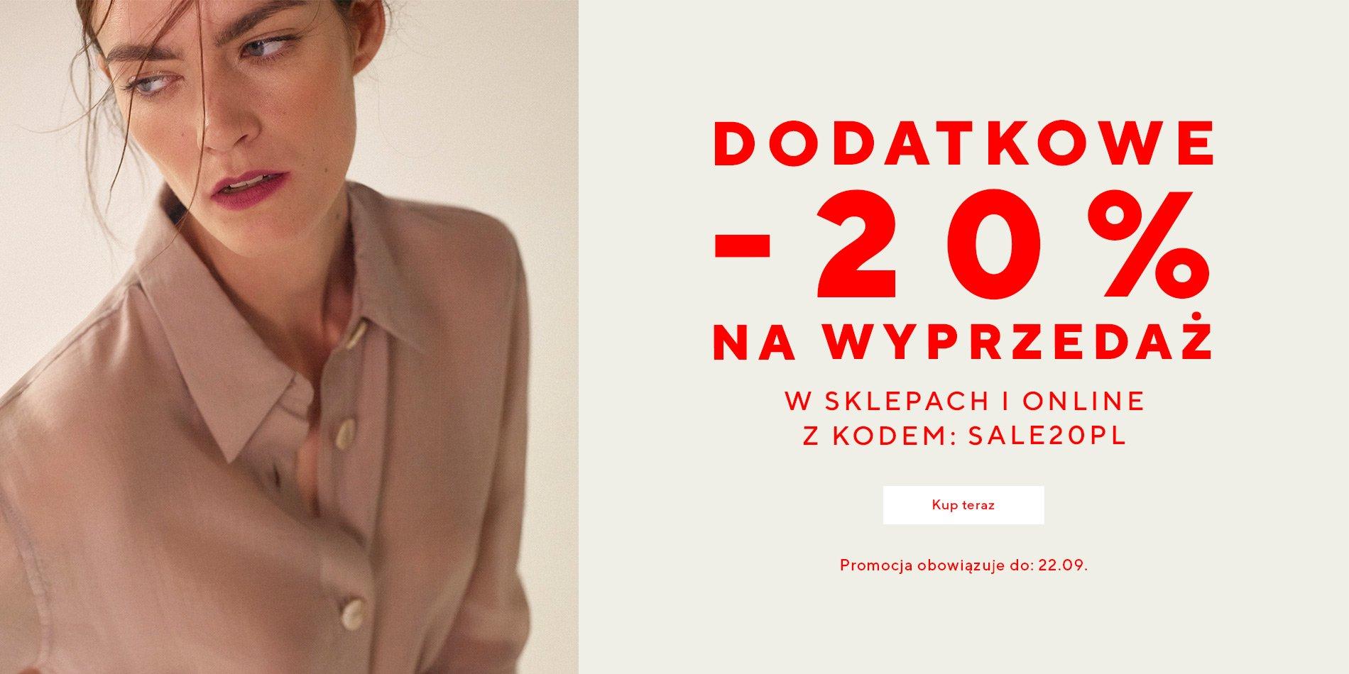 Reserved: dodatkowe 20% rabatu na odzież, obuwie i akcesoria z wyprzedaży                         title=