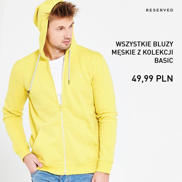 Reserved: bluzy męskie za 49,99 zł