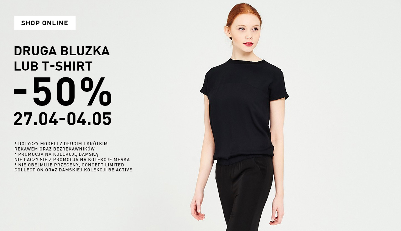 Reserved: 50% zniżki na drugą bluzkę lub t-shirt