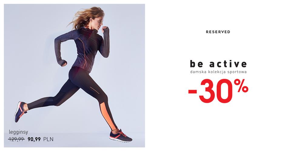 Reserved: 30% zniżki na damską kolekcję sportową