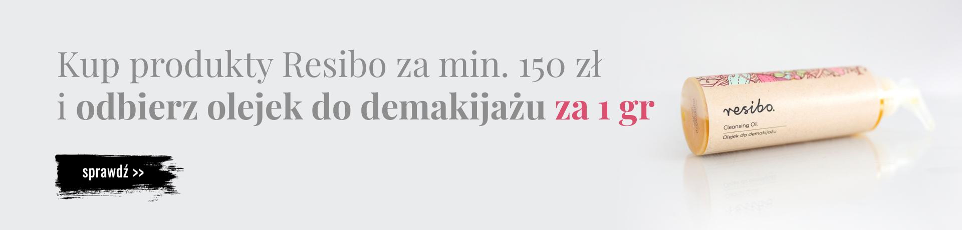 Bee.pl: kup produkty Resibo z amin. 150 zł, a olejek do demakijażu otrzymasz za 1 grosz